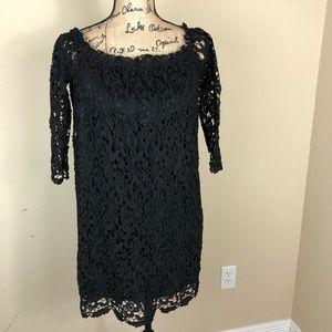 Audrey 3+1 Black Lace Dress Tunic M